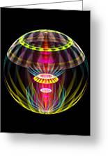 Alien Sphere Fractal Fantasy Greeting Card