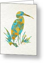 Heron Watercolor Art Greeting Card
