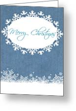 Merry Christmas In Blue Greeting Card