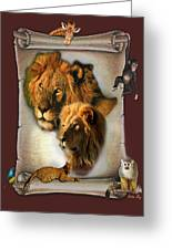 The Lion King From Africa Greeting Card