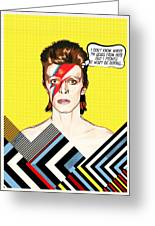 David Bowie Pop Art Greeting Card