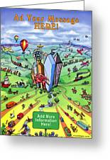 All Roads Lead To Dallas Texas Greeting Card