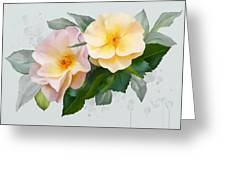 Two Wild Roses Greeting Card