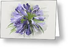 Blue Purple Flowers Greeting Card