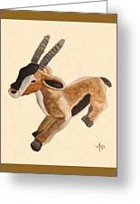 Cuddly Gazelle Watercolor Greeting Card