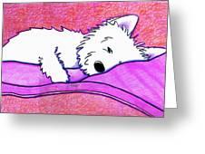 Sleepy Westie Girl Greeting Card