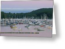 Sunrise Over Mallets Bay Panorama - Two Greeting Card
