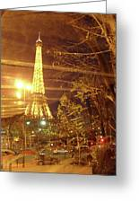 Eiffel Tower By Bus Tour Greeting Card