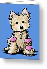 Heartstrings Cairn Terrier Greeting Card