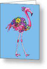 Fancy Felicity Flamingo Greeting Card