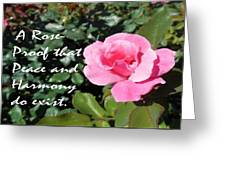 A Rose Is Proof Greeting Card