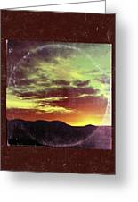 American Sunset As Vintage Album Art Greeting Card