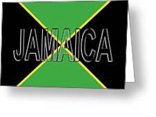Flag Of Jamaica Word Greeting Card