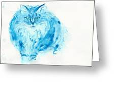Blues Cat Greeting Card