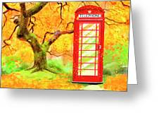 The Great British Autumn Greeting Card