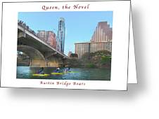 Image Included In Queen The Novel - Austin Bridge Boats Enhanced Poster Greeting Card