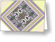 Hill Of Flowers Double Greeting Card
