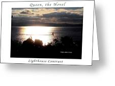 Image Included In Queen The Novel - Lighthouse Contrast Enhanced Poster Greeting Card