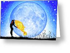 Daughter Of The Moon Greeting Card by Mark Tisdale
