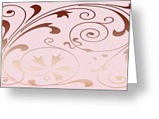 Rose Quartz Gold Komingo Greeting Card