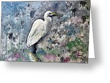 Silver Lake Snowy Egret Greeting Card