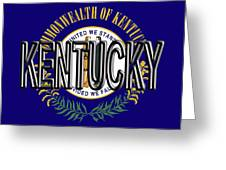 Flag Of Kentucky  Word Greeting Card