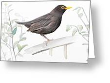 Ms. Blackbird Is Brown Greeting Card by Ivana Westin