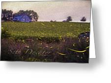 1300 - Fireflies Impression Version Greeting Card