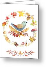 Welcome Back Autumn Greeting Card