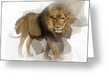 Lion Lion Lion Greeting Card