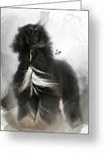 Black And Tan Afghan Hound In The Wind Greeting Card