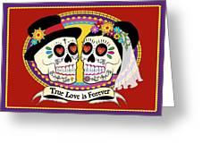 Los Novios Sugar Skulls Greeting Card