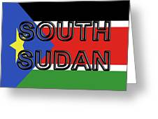 Flag Of  South Sudan Word Greeting Card