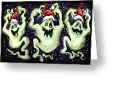 Ghostly Christmas Trio Greeting Card