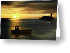 When The Sun Goes Down Greeting Card