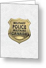 Canadian Forces Military Police C F M P  -  M P Officer Id Badge Over White Leather Greeting Card