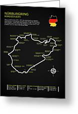 The Nurburgring Nordschleife Greeting Card