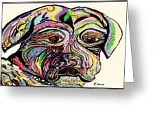 Colorful Boxer Greeting Card