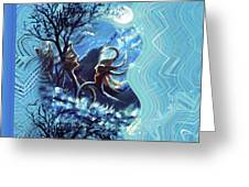 Love For Moon Light Greeting Card