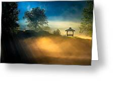 Misty Morning On The Chattahoochee Greeting Card
