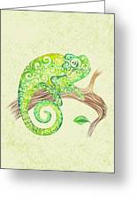 Swirly Chameleon Greeting Card