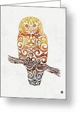 Swirly Owl Greeting Card