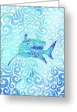 Swirly Shark Greeting Card
