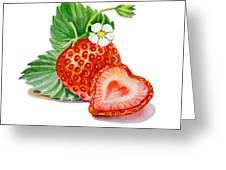 Artz Vitamins A Strawberry Heart Greeting Card