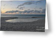 Aruba Beach At Dusk Greeting Card