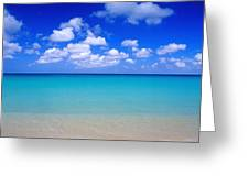 Aruba Sky And Sea Greeting Card