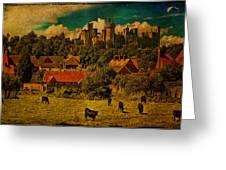 Arundel Castle With Cows Greeting Card