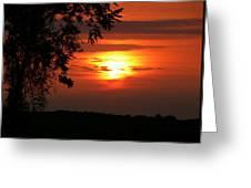 As Evening Falls Greeting Card