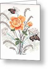 As I Ride The Butterfly Greeting Card