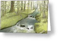 As I Sat By A Brook And Pondered Greeting Card